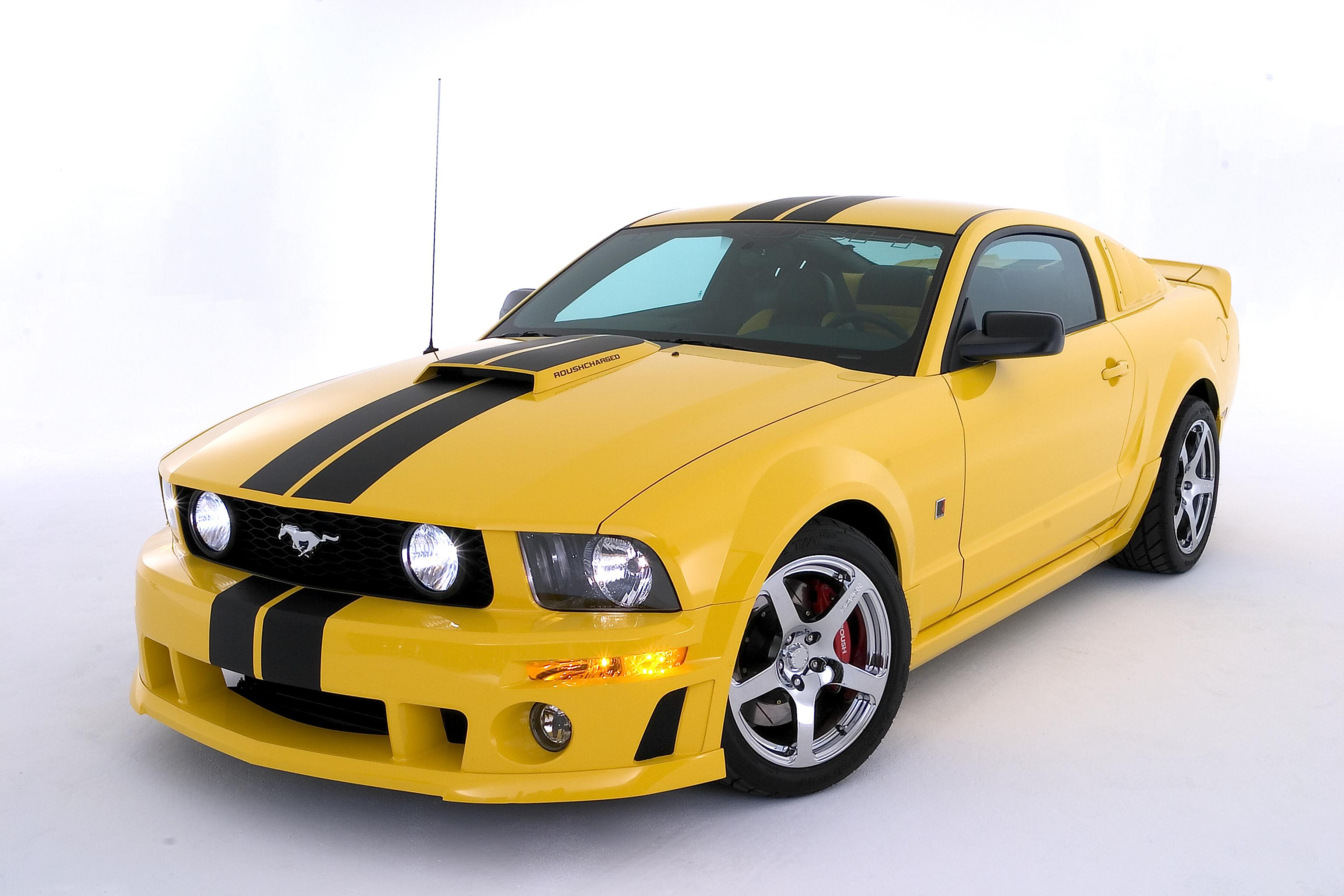 mustang roush yellow black supercharged. Black Bedroom Furniture Sets. Home Design Ideas