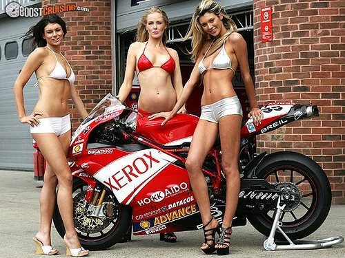 pictures ducati 999 photo with sexy girls